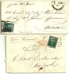 Grand Duchy of Tuscany, 1851-52 – lot of 2 letters