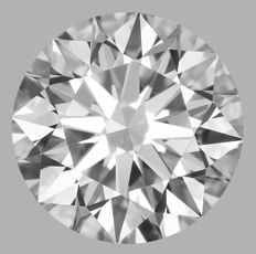 0.70ct  Round Brilliant  E VS1    GIA-#WI23-original image -10x