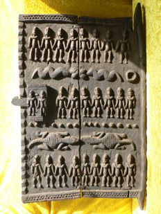 Antique 19th century granary door - DOGON - Mali - Africa