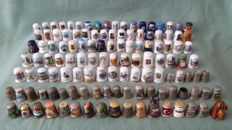 Collection of 123 thimbles.