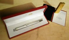 Lot gold plated lighter + silver pen (with refill) -  les Must de Cartier - 80's