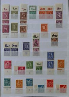 German Empire/Reich - collection with upper fringe, units (blocks of 4) and platine errors