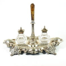 Silver plated Zuurstel, not stamped, ca. 1900