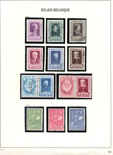 Belgium 1949/1970 - extensive collection on Davo album sheets - between OBP 807 and 1566.