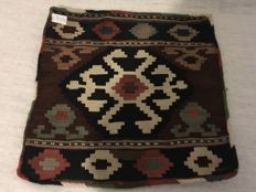 Vintage  wool on cotton Hand Woven Persian Cushion Cover 53x51 cm