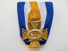 Officer's badge for 15 years of loyal service - the Netherlands