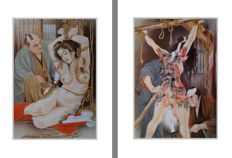 Oriental BDSM; Lot with 2 Offset prints - Die Sklavin-1990