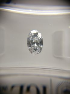 0.71 ct Oval cut diamond D VS1
