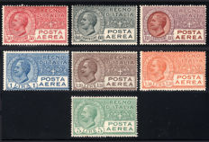 Kingdom of Italy, 1926-28 – Airmail – Complete series – 7 values