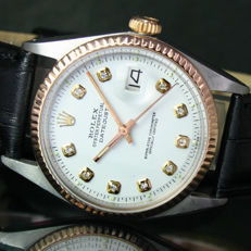 1974s Rolex Oyster Perpetual DateJust Steel Pink Gold Ref# 1601