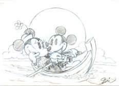 Garrido, Sergio - Original drawing - Mickey & Minnie Mouse Boat trip