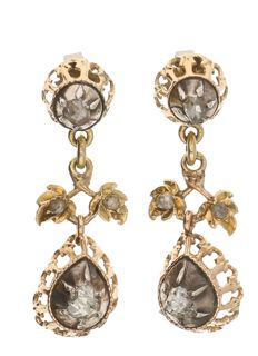 Earrings – Yellow gold – Diamond