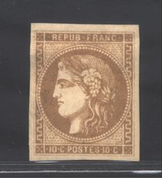 France, 1870 – Ceres, Bordeaux issue – Yvert & Tellier catalogue no. 43Bd