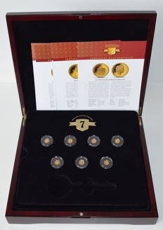 "Solomon Islands – 1 Dollar 2013 (7 coin set) ""The seven wonders of the ancient world"" – Gold"