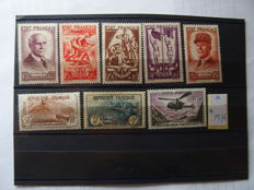 France 1940/1980 – Lot with French stamps