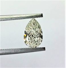 Pear Cut  - 0.90 carat  - H color  - VS1 clarity  - Natural Diamond  Comes With IGL Certificate + Laser Inscription On Girdle