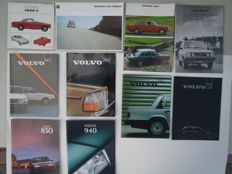 Lot of 10 Volvo Brochures 1965 / 1997