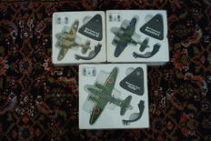 Lot with 3 models of bombers