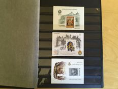 Spain 1989/2013 – Collection of 41 official luxurious proof stamps.