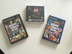 Brand new with ps1 seal PSX Gta - Grand theft Auto - Collector's Edition - and 2 PS2 games San Andreas+Vice City