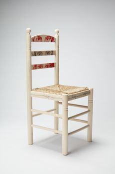 Carmen García Huerta - Custom made wood and wicker chair - 2017.