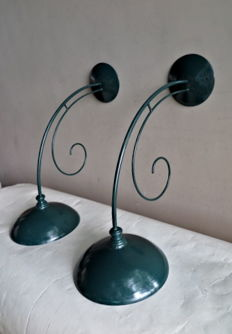 Designer unknown - Set of large retro outside lamps