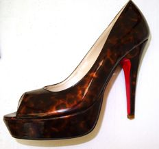 Christian Louboutin – Beautiful, very unique heels, flamed patent leather