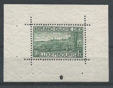 Luxembourg 1923 - Birth of Princess Elisabeth - Michel block 1 II