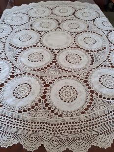 Lovely handmade tablecloth - Sicily - Italy - early 1900