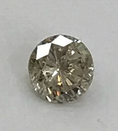 2.14 ct Round brilliant - cut diamond natural J SI2 Includes a large certificate