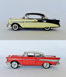 Franklin Mint - Scale 1/24 - Chevrolet Bel Air 1956 and 1957
