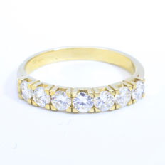 14 karat gold channel ring || 1.07 ct - F - Vvs2 || ref: 1616LTT