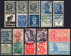 Kingdom of Italy, 1924 – Advertising stamps – 10 values