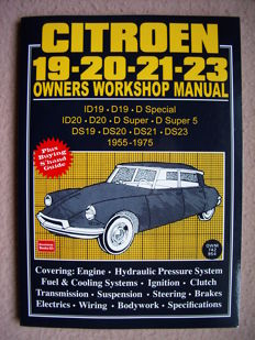Citroën DS (all models 1955-1975) - Workshop Manual - Citroën ID/DS-19-20-21-23 - Brooklands Books (1991)