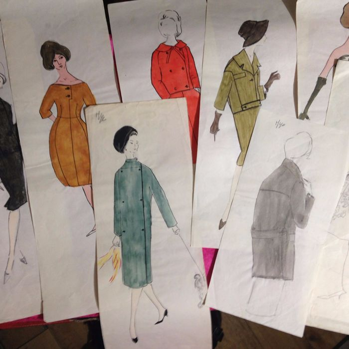 20th Century French School 8 Fashion Sketches With Original Catawiki