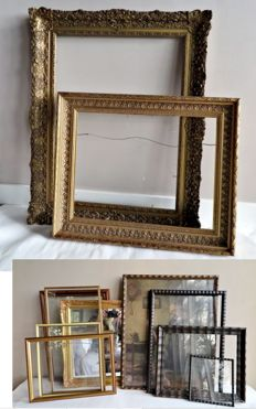Lot of 11 beautiful antique / retro picture frames