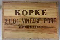 2001 Vintage Port Kopke – 6 bottles in (closed) original wooden box
