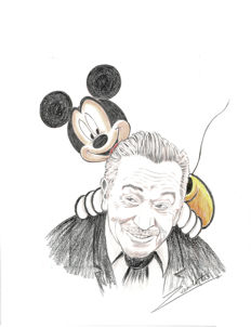 Vendetta, Z. - Original Pencil Drawing - Walt Disney & Mickey Mouse