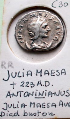 Roman Empire - Julia Maesa (deceased 225 AD) AR Antoninianus, 218-222 AD