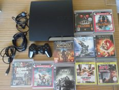 PS3 -320 GB  with HDMI cable.- incl 10 games