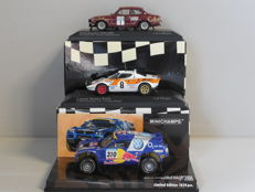 Minichamps - Scale 1/43 - Lot with 3 rally models: Ford Escort, Lancia Stratos & Volkswagen Touareg