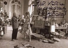 Jerome Brierre / Life, Brigitte Bardot with Pablo Picasso in Cannes ,