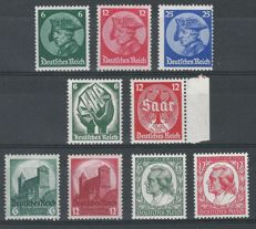 German Reich, 1937-1939, selection, Michel 479-481, 544-545, 546-547, 554-555