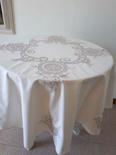 Lovely tablecloth - ancient linen - Sicily - Italy - Early 900