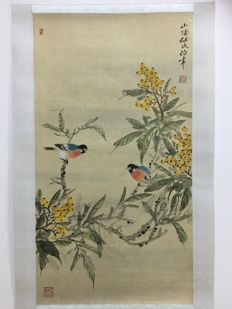 Ink painting, made after Ren Bonian - China - late 20th century
