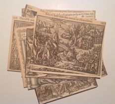 Series of 20 engravings from an illustrated Bible of the 16th century.
