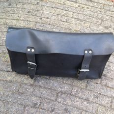Black Leather Tool Bag - 1960s