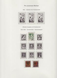 Switzerland 1918/2001 - Pro Juventute collection on album pages