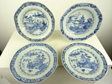 Four porcelain plates – China – 18th century