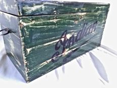 Indian Motorcycle Racing - wooden crate from the 1950s